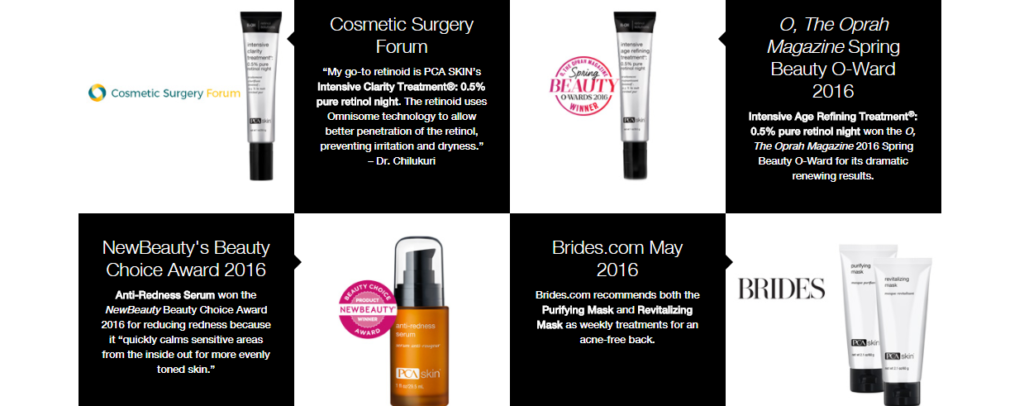 PCA SKIN-Beauty Awards